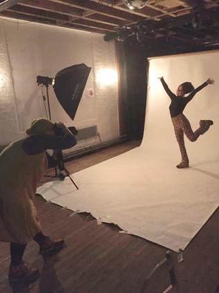 Emily Capell having a photoshoot