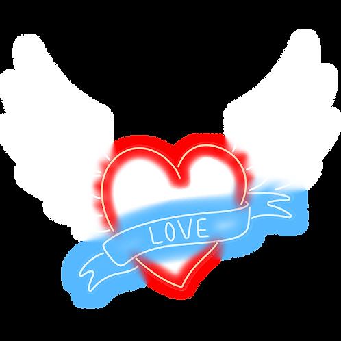 CORAÇÃO, LOVE E ASAS