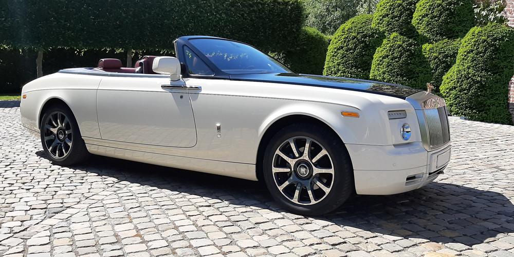Rolls Royce Drophead white huren louer rent
