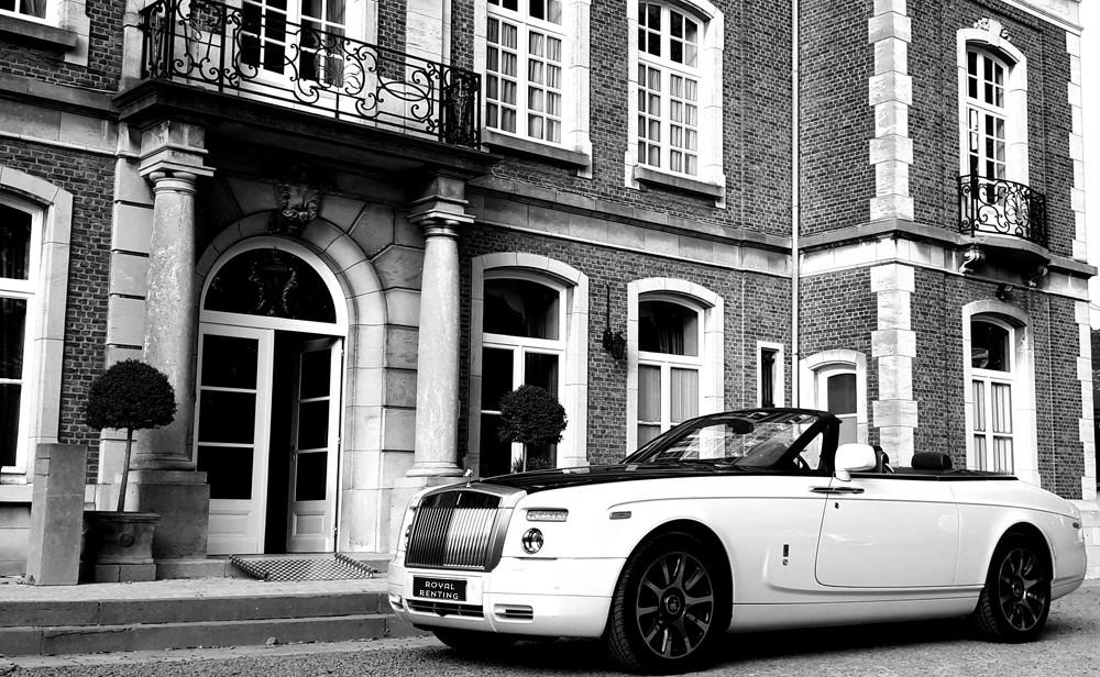 Rolls Royce Phantom Drophead white huren louer rent