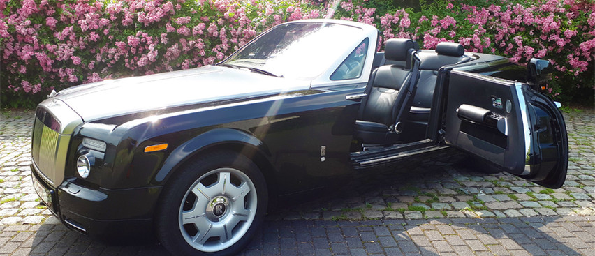 Rolls Royce Drophead black huren louer rent
