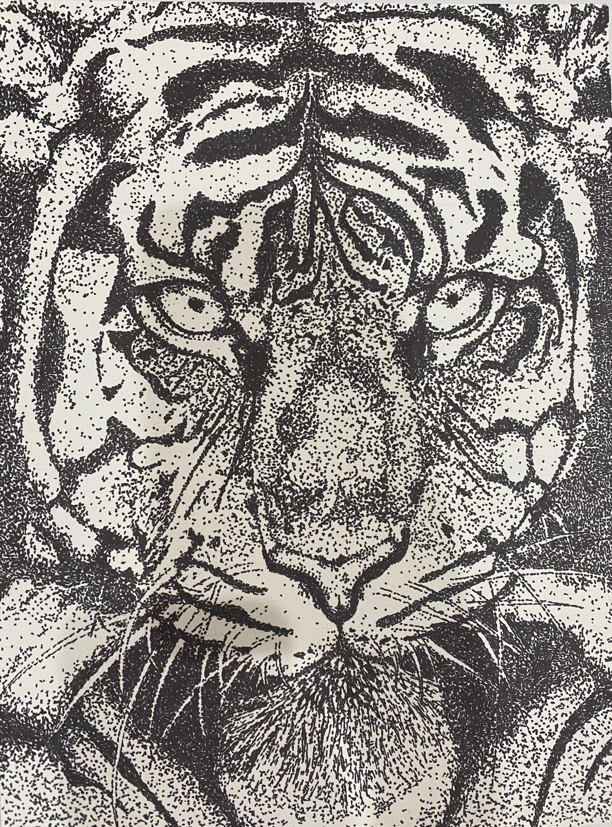 """32. ALICIA MARVEL  """"Dots on Tiger"""""""