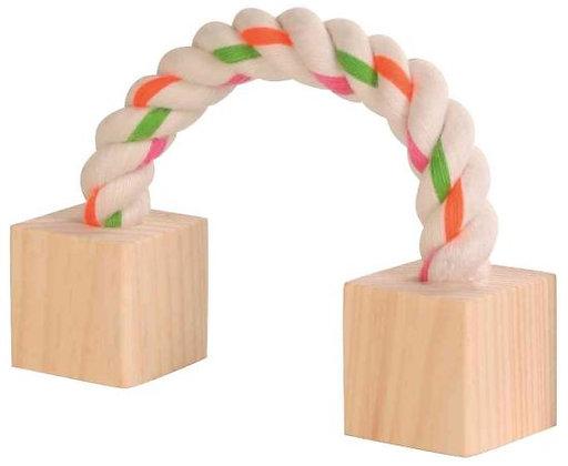 Baumwollspielseil mit Holz, Kleintiere