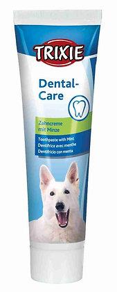 Zahncreme mit Minze, Hund