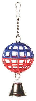Gitterball mit Kette und Glocke