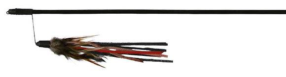 Spielangel mit Lederbaendchen und Federn