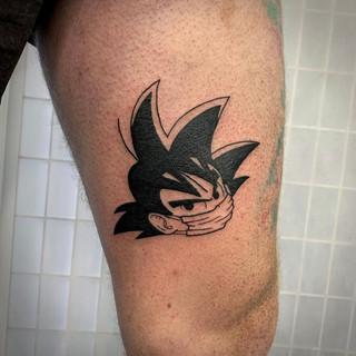Goku tattoo by Alana Tomlin