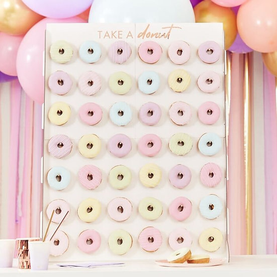 Expositor de donuts oro rosa