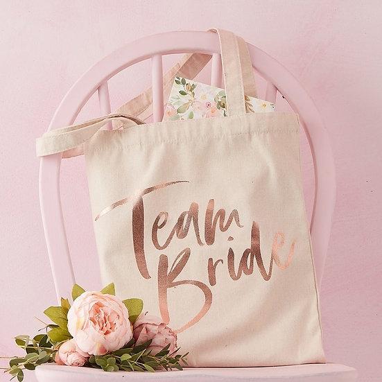 "Bolsa de algodón ""Team Bride"""