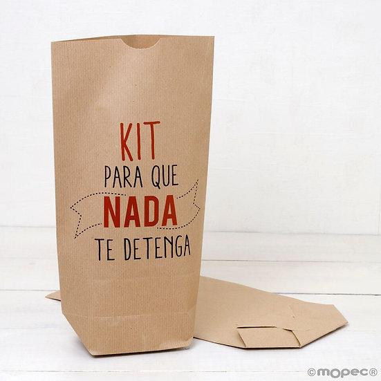 "Pack de 25 bolsas kraft ""Kit para que nada te detenga"""