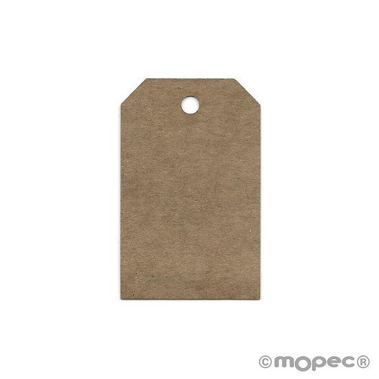 Pack de 36 tarjetas kraft rectangulares esquinas cortadas