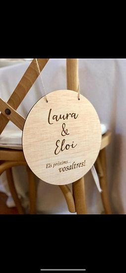 """Cartel madera redondo """"Los próximos vosotros..."""""""