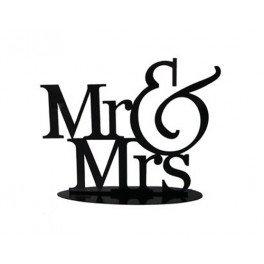 """Figura de tarta de novios """"Mr&Mrs"""""""