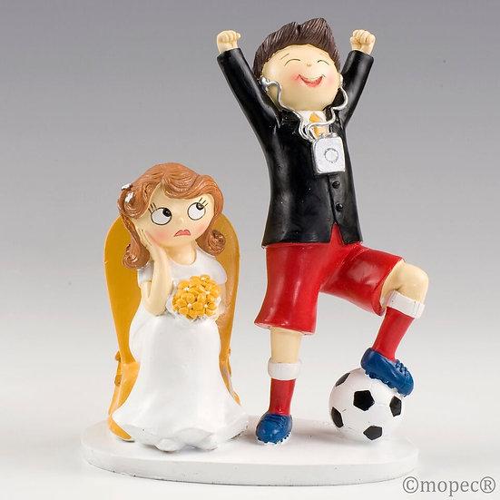 """Figura de pastel """"Novio futbolero"""""""