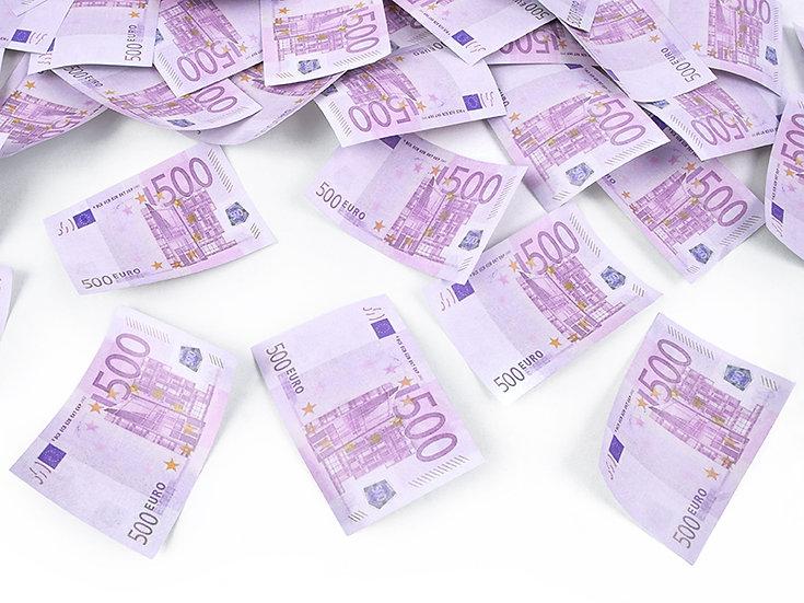 Confeti billetes 500
