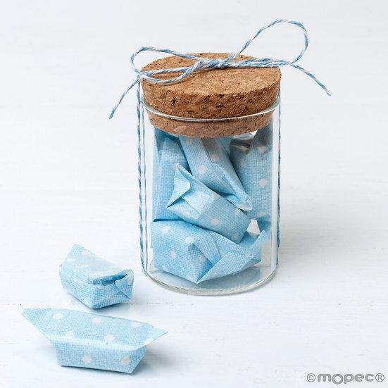 Pack de 12 tarros de cristal con 5 caramelos