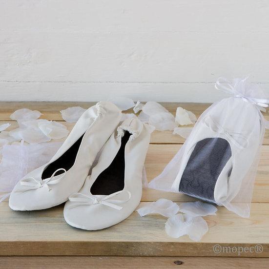 Bailarinas plegables imitación piel