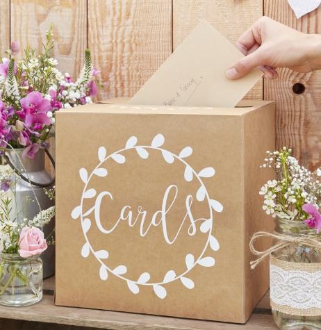Buzón de tarjetas Kraft ''Cards''