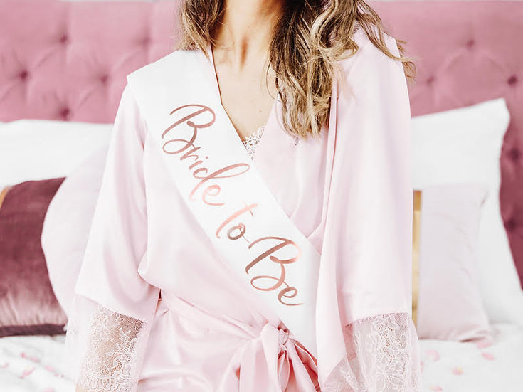 Banda Bride to Be - Oro Rosa