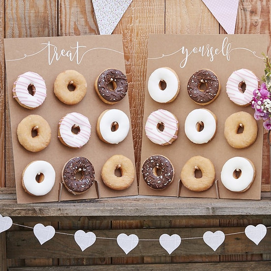 Paredes rústicas de donuts