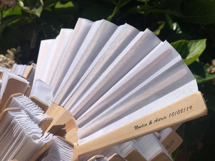 Personalización abanicos de madera