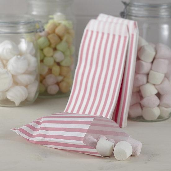 Pack 25 bolsitas ralladas blanco/rosa