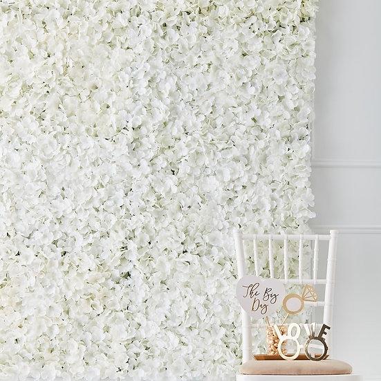 Panel de flores blancas