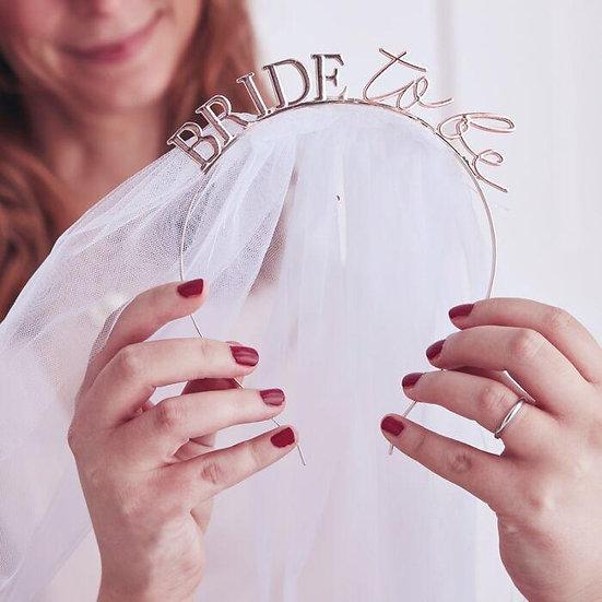 Bride to be corona con velo