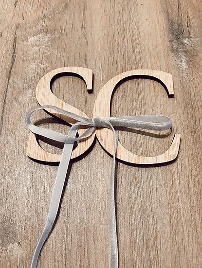 Porta alianzas letras madera