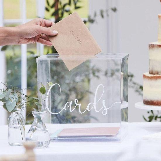 Caja metacrilato Cards