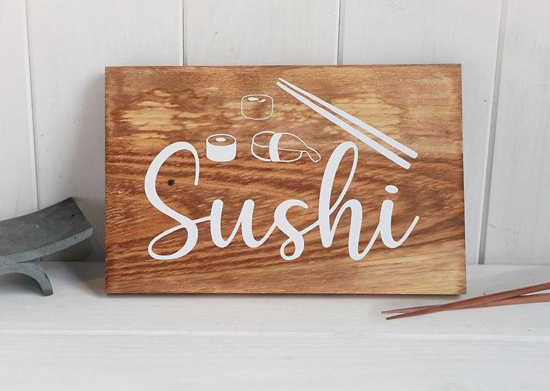 "Cartel madera ""Sushi"""