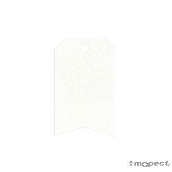 Pack de 36 tarjetas blancas rectangulares, esquinas cortadas i forma de flecha