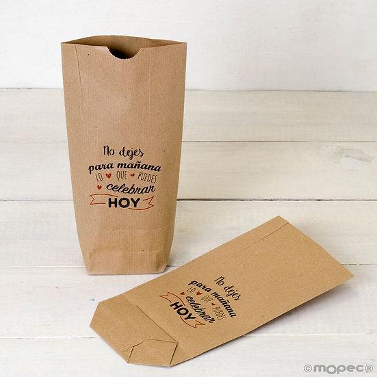 "Pack de 25 bolsas kraft ""No dejes para mañana..."""