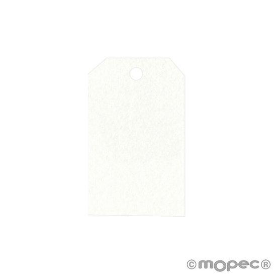 Pack de 36 tarjetas blancas rectangulares con las esquinas cortadas