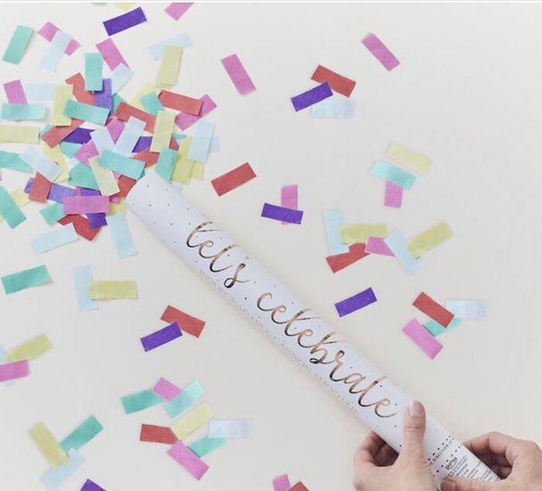 Cañon confeti rectangular biodegradable