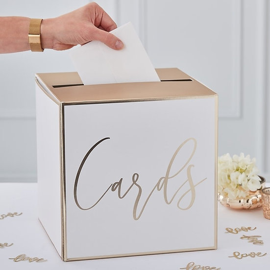"""Buzón de tarjetas en dorado """"CARDS"""""""