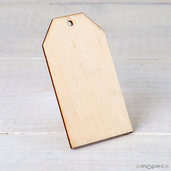 Pack de 4 tarjetas de madera con agujero