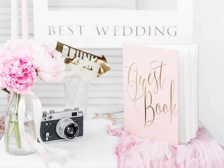 Guest book Pink