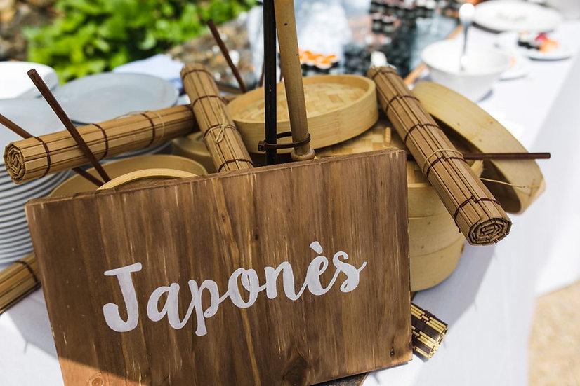 """Cartel madera """"Japonés"""""""