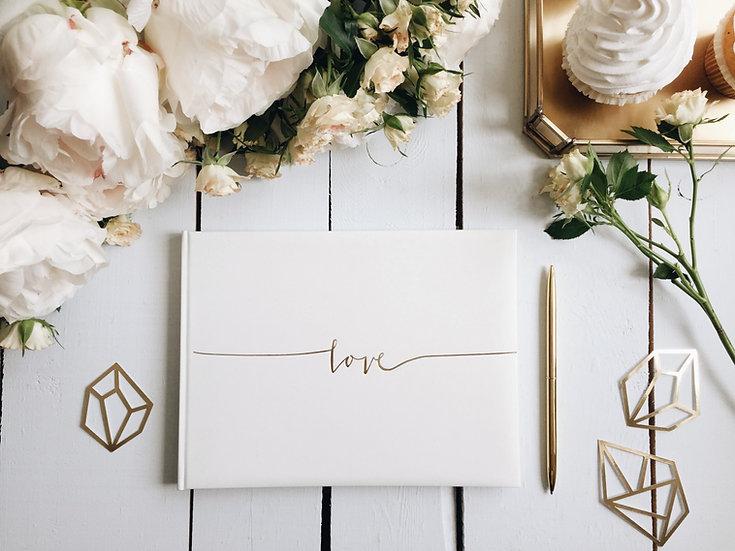 """Libro de firmas """"Love"""""""