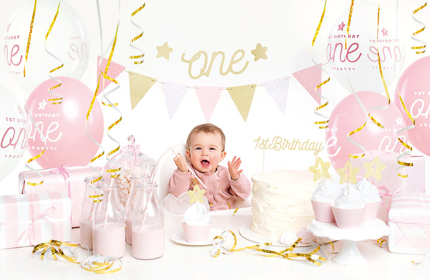 Set primer cumpleaños - Niña