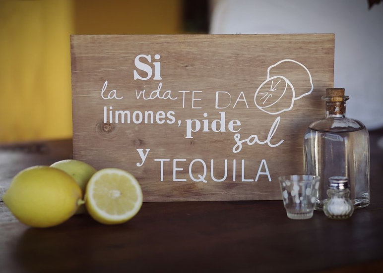 """Cartel madera """"Tequila"""""""