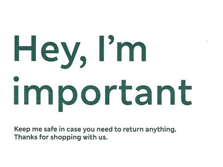 Hey, I'm important
