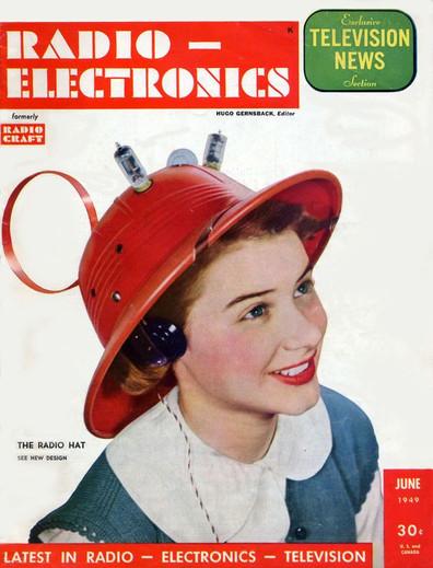 """Man-from-Mars, Radio Hat"", Radio-Electronics cover-1949"