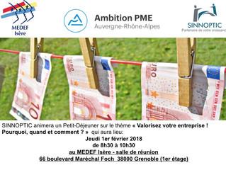 Besoin de valoriser votre entreprise ? Rendez-vous le jeudi 1er février au MEDEF Grenoble.