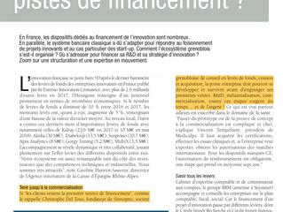 LA PRESSE PARLE DE NOUS ! ! ! ! ! ! ! ! ! !   Interview de Christophe DEL TOSO (CEO SINNOPTIC) par l