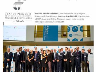 SINNOPTIC a participé aux Grands Prix CFNews 2018 de la Croissance Externe Auvergne/Rhône-Alpes à l&