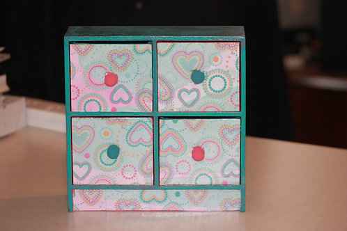 Watermelon Hearts Wooden Box
