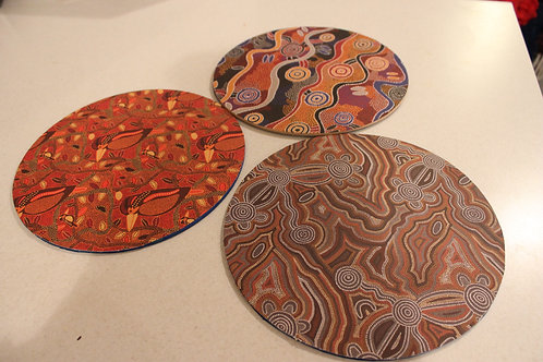 Multi Purpose Wooden Disc x3 Double Sided
