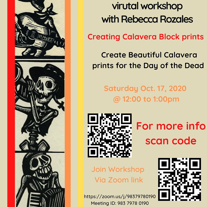 Make Calavera Block Prints Rebecca Rozales